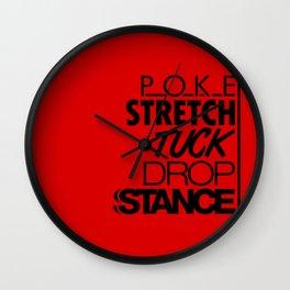 POKE STRETCH TUCK DROP STANCE v6 HQvector Wall Clock