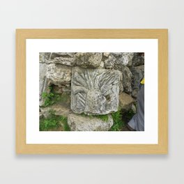 Stone tree Framed Art Print