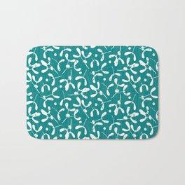 Rustic Mistletoe - Teal Bath Mat