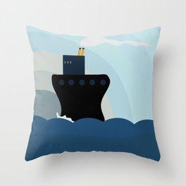 Ocean Liner Throw Pillow