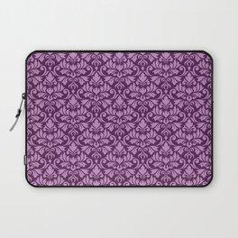 Flourish Damask Big Ptn Pink on Plum Laptop Sleeve