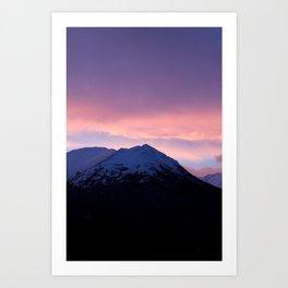 Pink and Purple Sunrise Art Print