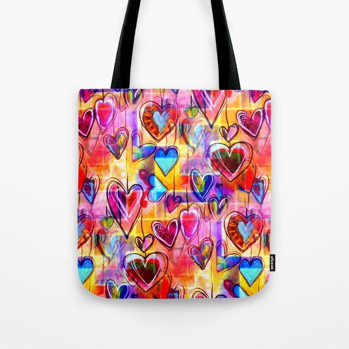 Spring Hearts Tote Bag