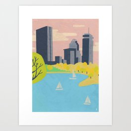 Charles River - Boston Landmarks Art Print