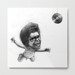 James Brown x Nirvana Metal Print