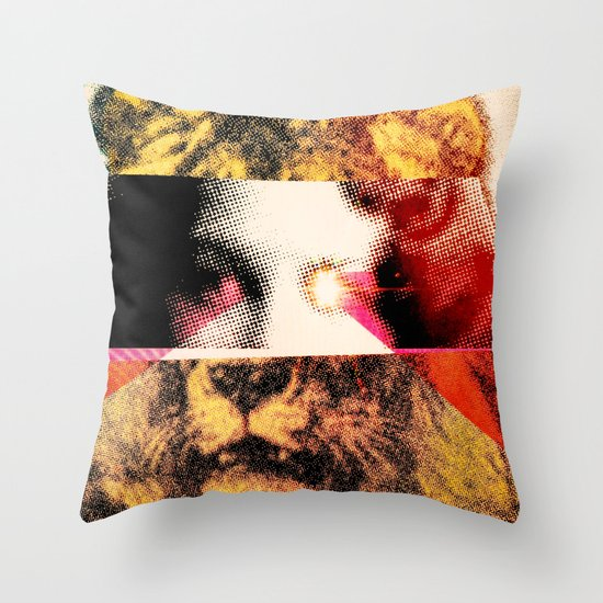 Lady Lion Throw Pillow