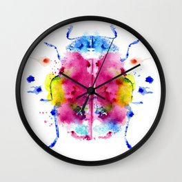 Monotype color beetle Wall Clock