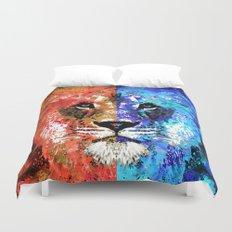 Lion Art - Majesty - Sharon Cummings Duvet Cover