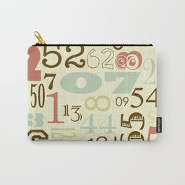 Retro Numbers Carry-All Pouch