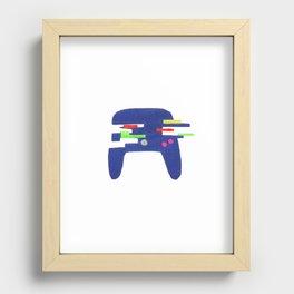 Glitch Controller Recessed Framed Print