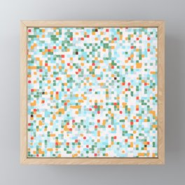 handmade coloured squares Framed Mini Art Print