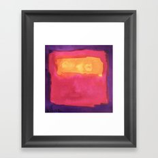 color abstract 7 Framed Art Print