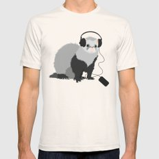 Music Loving Ferret Mens Fitted Tee LARGE Natural