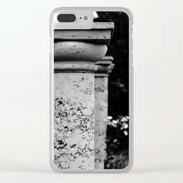 Black and White Garden Columns Clear iPhone Case
