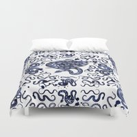 snake Duvet Covers featuring SNAKE by DIVIDUS