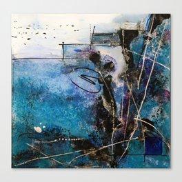 Midnight Sky, Acrylic artwork Canvas Print