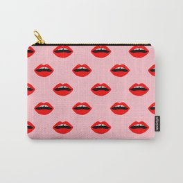 Lips valentines day cute gift for love makeup lipstick mouth pattern Carry-All Pouch
