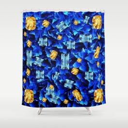 SEPTEMBER BLUE & CHAMPAGNE TOPAZ GEMS BIRTHSTONE ART Shower Curtain