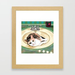Catrina in the Sink Framed Art Print