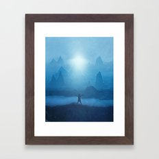 Naturaleza y luz Framed Art Print
