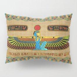 Egyptian Goddess Isis Ornament on papyrus Pillow Sham