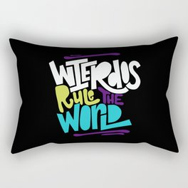 Weirdos Rule the World Rectangular Pillow