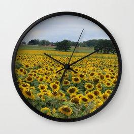 Field of a Million Sunfowers I Wall Clock