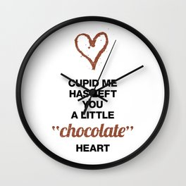 Cupid Me Valentine's Day Chocolate Heart Wall Clock