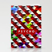 psycho Stationery Cards featuring PSYCHO by Tia Hank