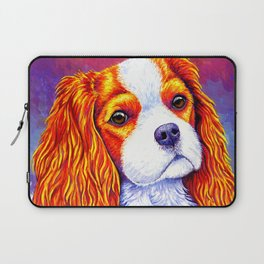 Colorful Cavalier King Charles Spaniel Laptop Sleeve