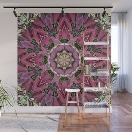 Autumn Leaves Kaleidoscope - White Ash Wall Mural