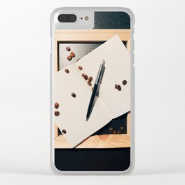 Writing and Coffee. Piece #1 Clear iPhone Case