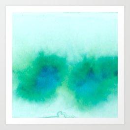 Green Blue Haze Art Print