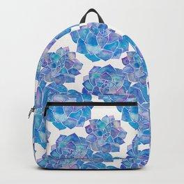 Rosette Succulents – Blue Palette Backpack