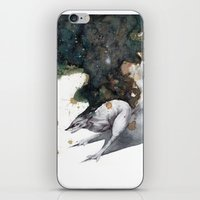 runner iPhone & iPod Skins featuring Night Runner by Rubis Firenos