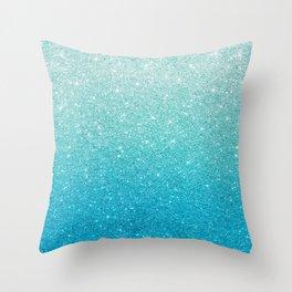 Ombre glitter #13 Throw Pillow