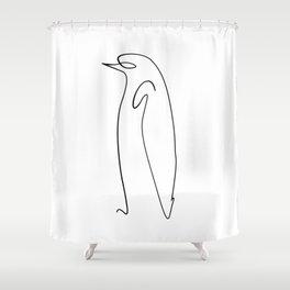 penguin line art picasso original Shower Curtain