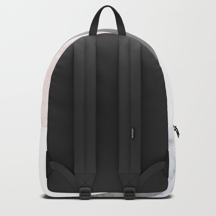 BLUSH MARBLE GRAY GEOMETRIC MOUNTAINS Backpack
