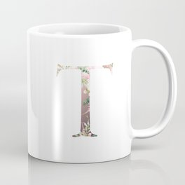 T - Floral Monogram Collection Coffee Mug