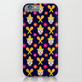 Dia de los Muertos traditional Mexican pattern iPhone Case