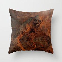 Undead Monstrosity - Horror Art Throw Pillow