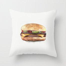 Color pencil Hamburger Throw Pillow
