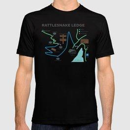 Rattlesnake Ledge Trail Map T-shirt