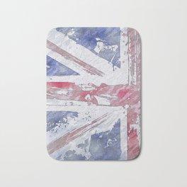 Rustic Union Jack Flag Bath Mat