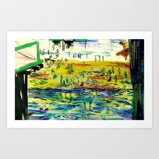 Brighton Beach from the Pier Art Print