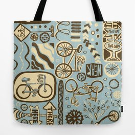 Here to There, Near or Far, This Way or That Tote Bag