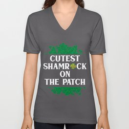 Cutest Shamrock On The Patch Unisex V-Neck