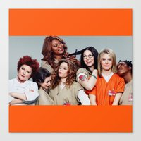 oitnb Canvas Prints featuring OITNB by I Love Decor