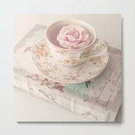 Floating Rose Metal Print
