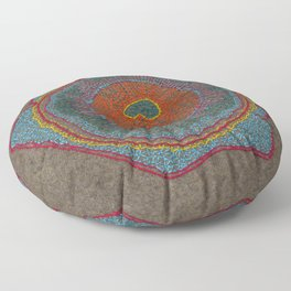 Growing - Thuja - plant cell embroidery Floor Pillow